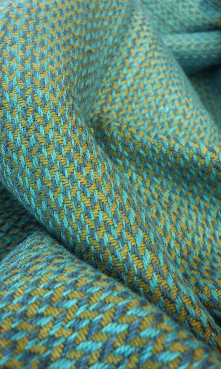 blue or green or yellow  custom cotton curtains image
