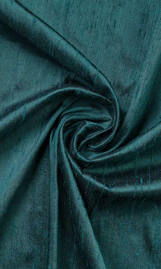 Teal Blue Dupioni Silk Curtains I Handstitched and Shipped for Free I Window Drapery