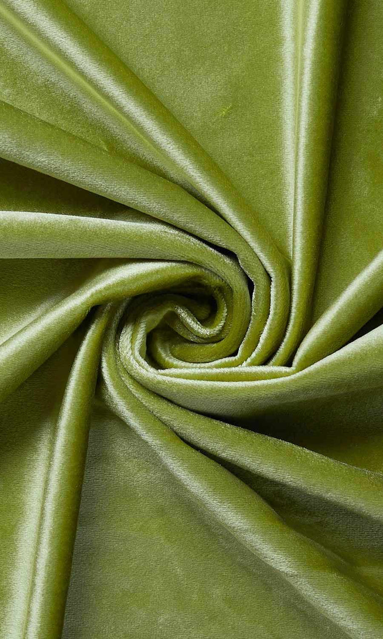 Green Velvet custom Curtains