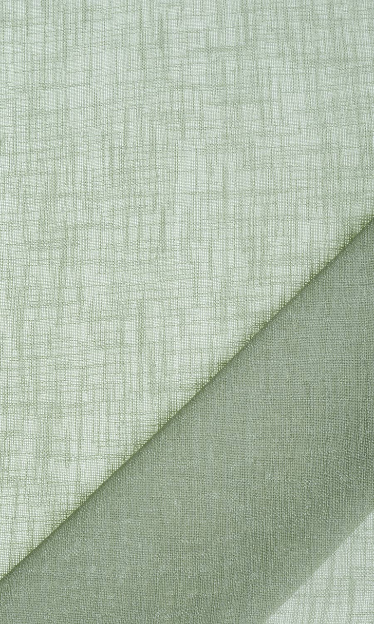 Mint light green linen sheer curtains