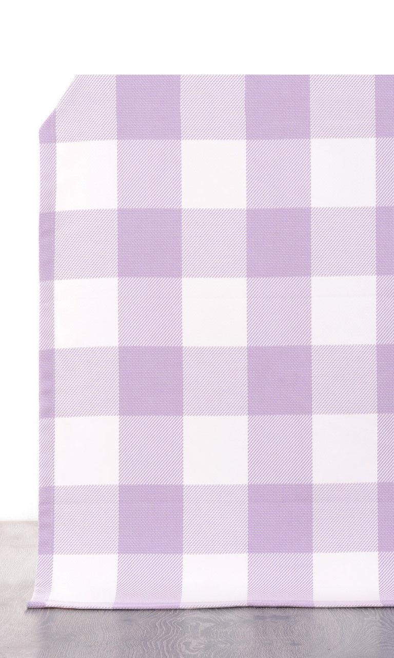 Gingham Check Cotton Curtains I Extra Long