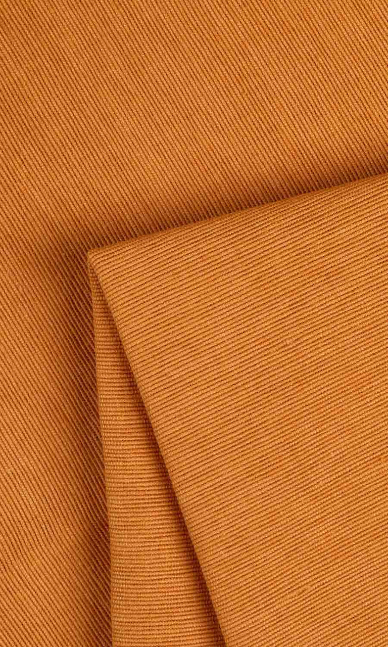 ochre orange custom cotton curtains image