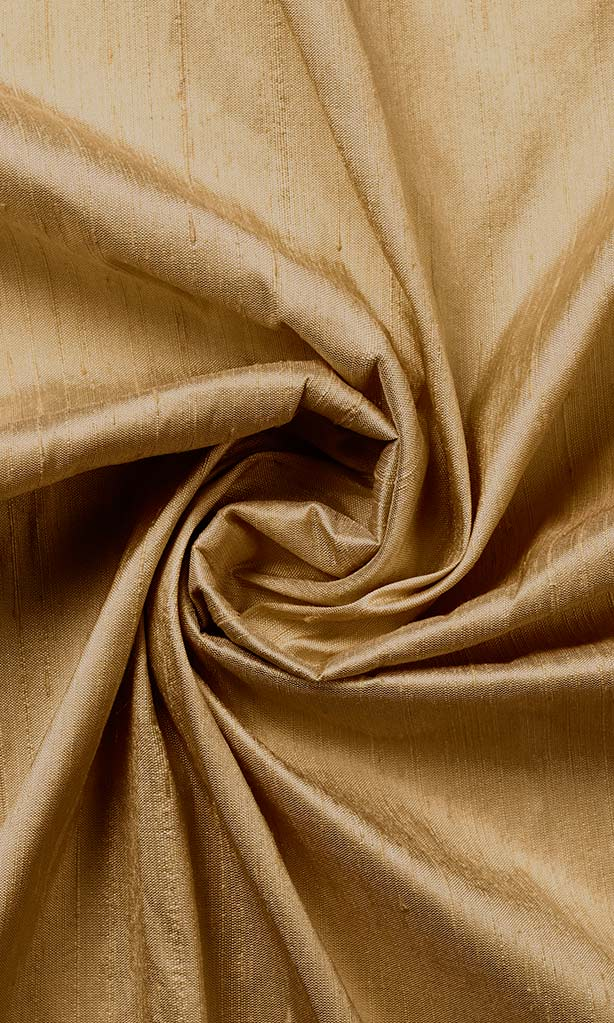 Golden Brown Pure Silk Curtains I Handstitched and Shipped for Free I Custom Window Drapes