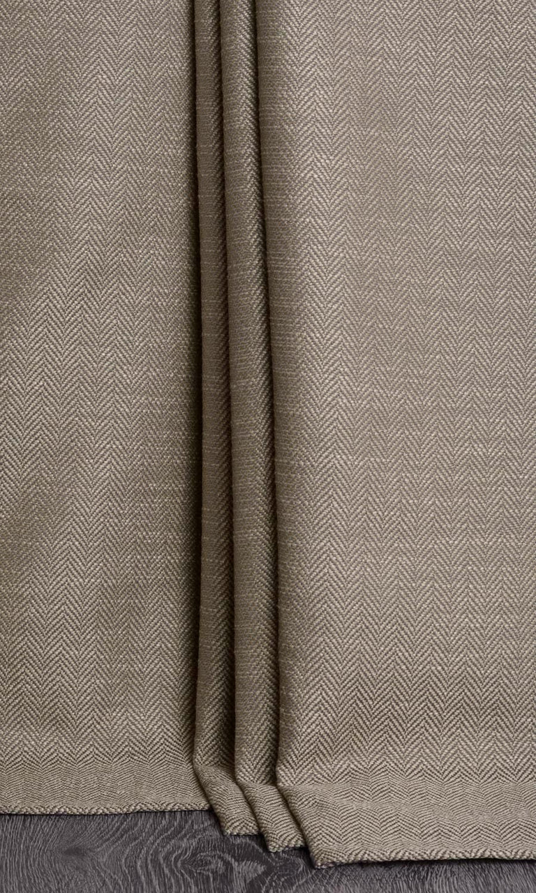 Brown Textured Custom Curtains