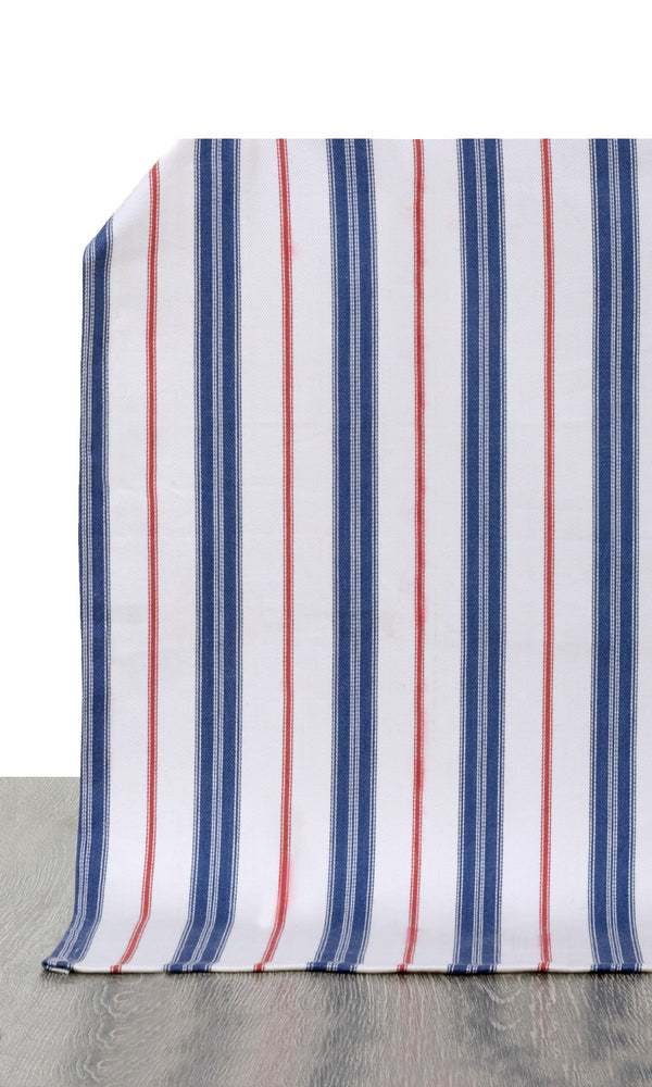 Extra Wide I red or blue custom cotton curtains image