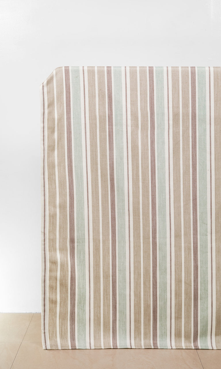 Beige/Brown/White/Green custom Curtains
