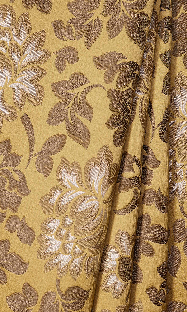 Mustard Floral custom Curtains I Extra Long