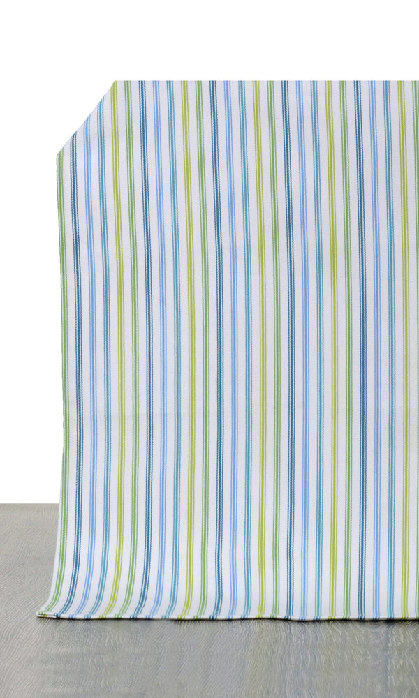 Blue green or yellow custom cotton curtains image I Extra Long