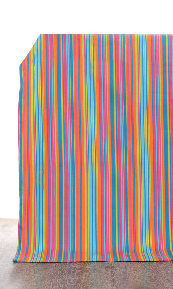 blue pink custom cotton curtains image I Extra Long