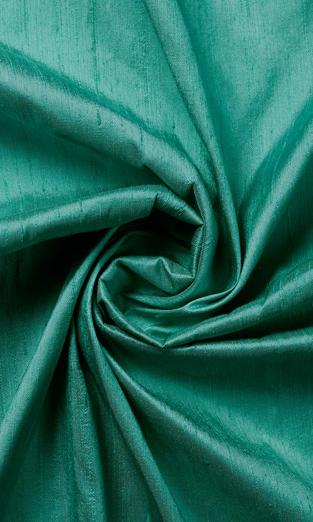 Dupioni Silk Window Curtains I Handstitched and Shipped for Free I Turquoise Blue