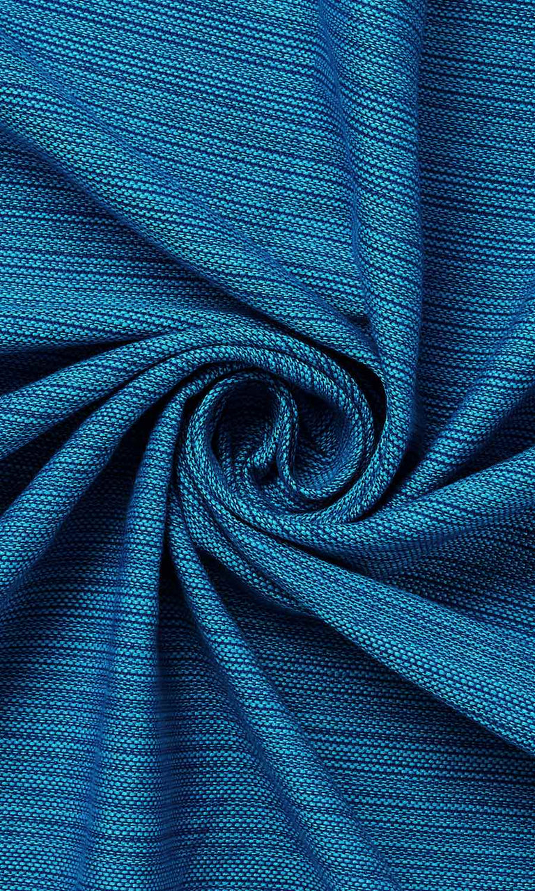 blue custom cotton curtains image