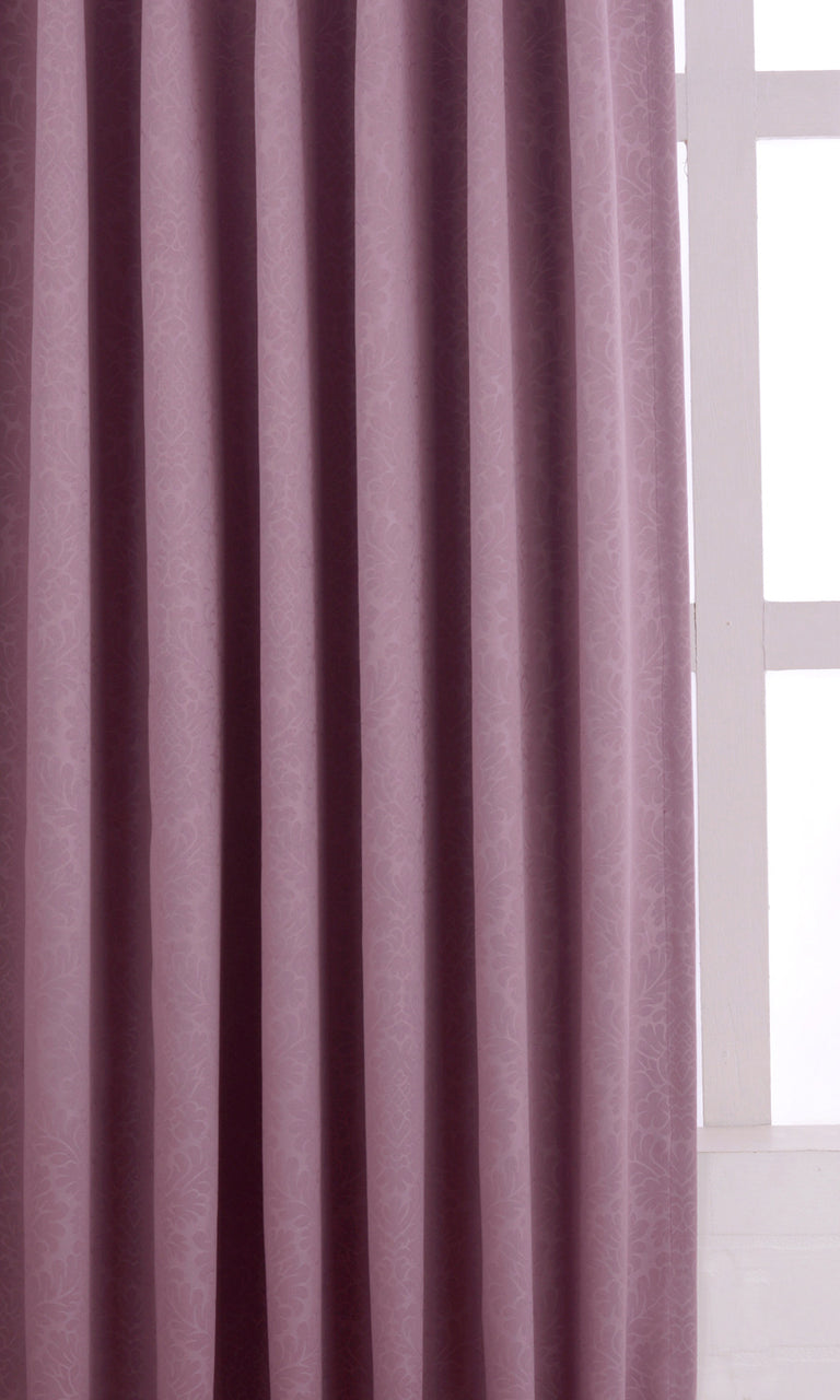Printed Purple Room Darkening Blackout Curtains Image
