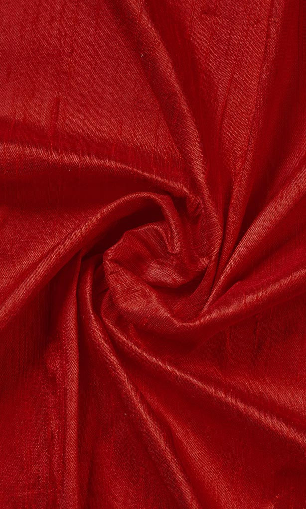 Red Pure Silk Curtains I Handstitched and Shipped for Free I Custom Window Drapes