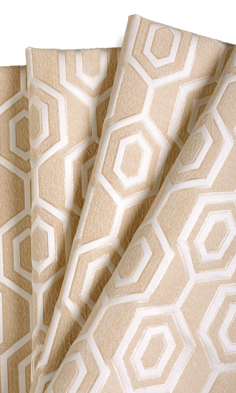Jacquard Honeycomb Patterned Bespoke Curtains I Extra Long