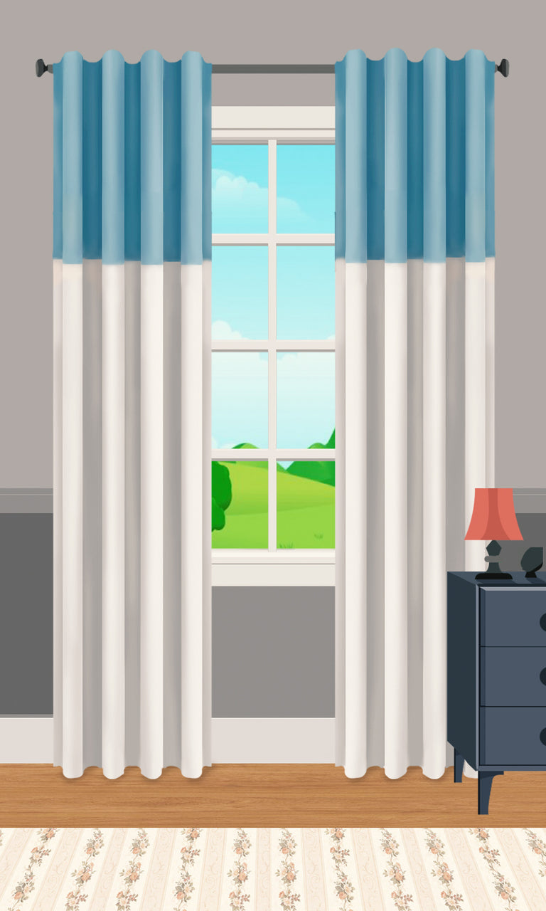 'Exalted' Top Color Block Curtains Styling