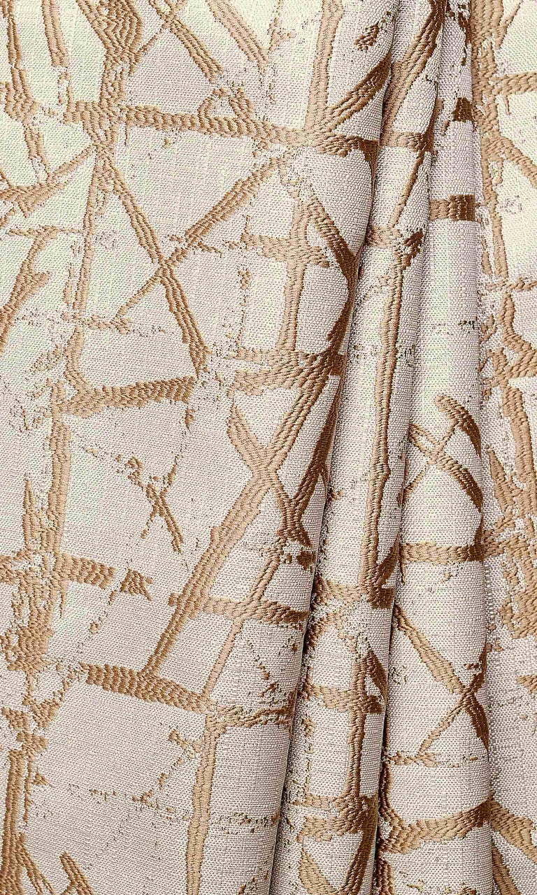 Beige Contemporary Modern Prints custom Curtains