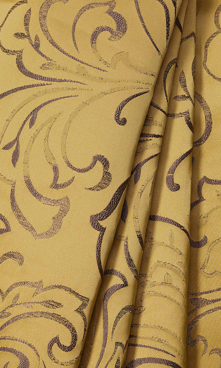 Mustard Yellow Floral custom Curtains