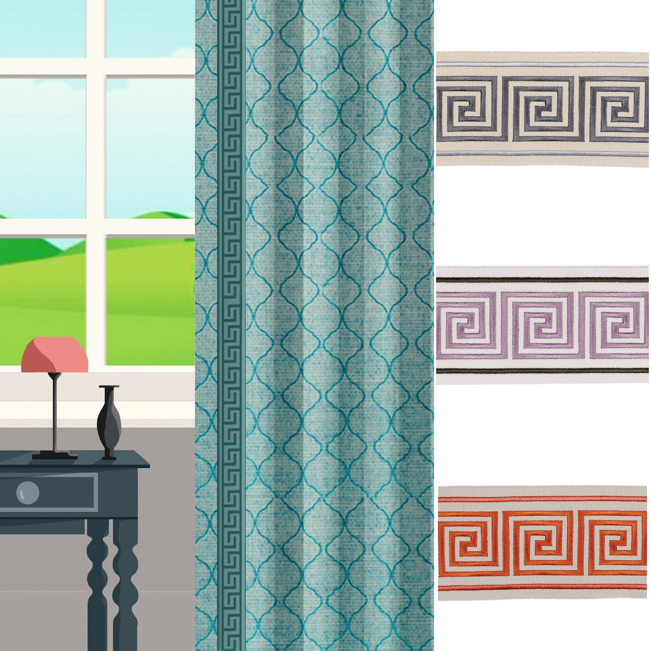Geometric Trims for for Curtains