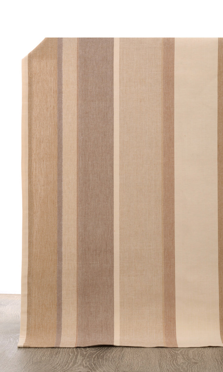 beige or brown custom cotton curtains image. Narrow Curtains.