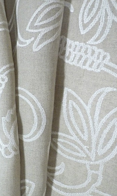 custom natural linen curtains image I Extra Long