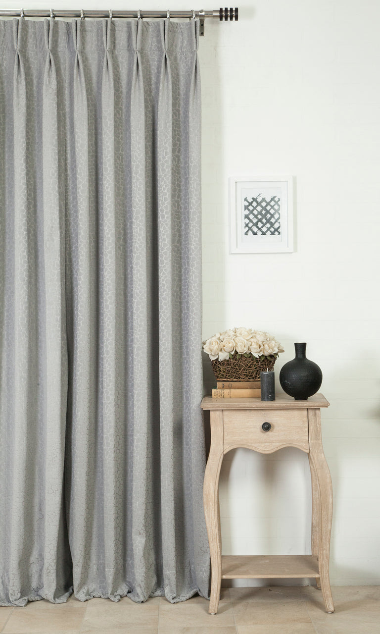 grey custom curtains image