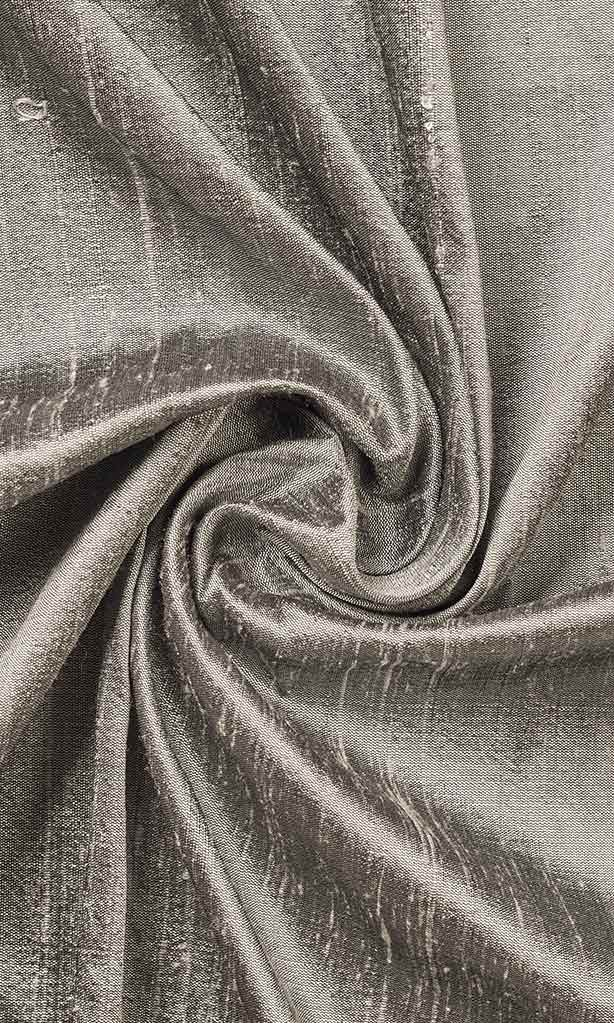 Dupioni Silk Window Curtains I Handstitched and Shipped for Free I Taupe Grey I Extra Long