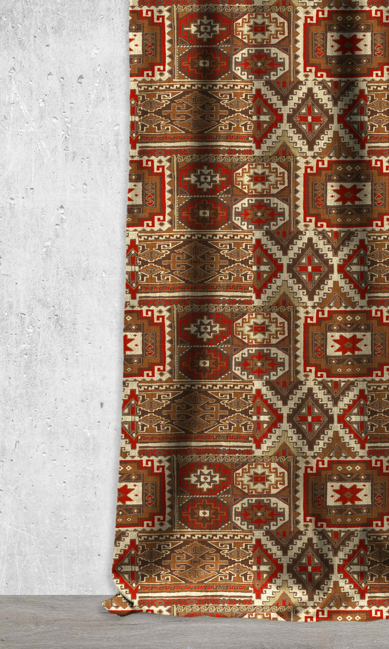 Kilim Print Window Curtains and Shades