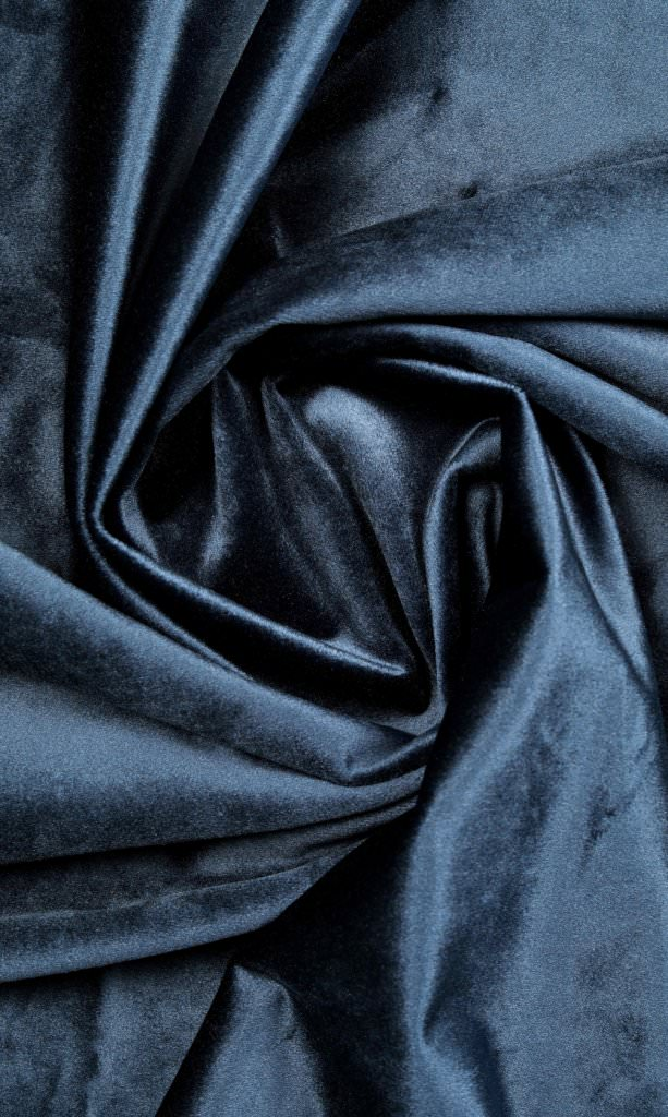navy blue custom velvet curtains image