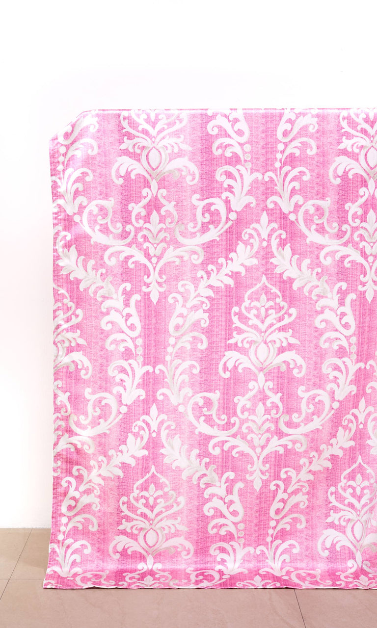 Pink/ White custom Curtains