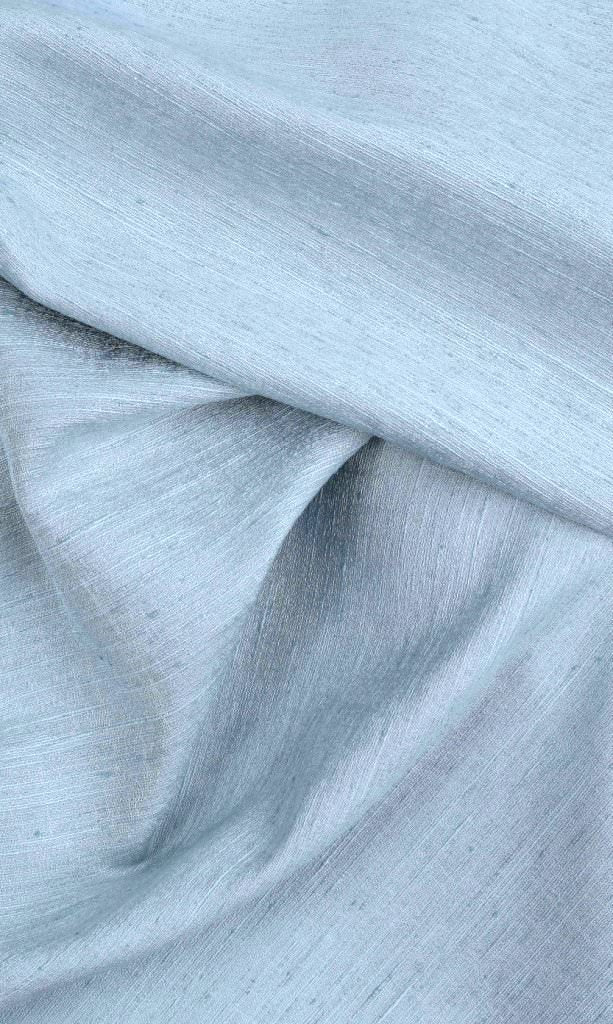 Light Blue Silk custom Curtains
