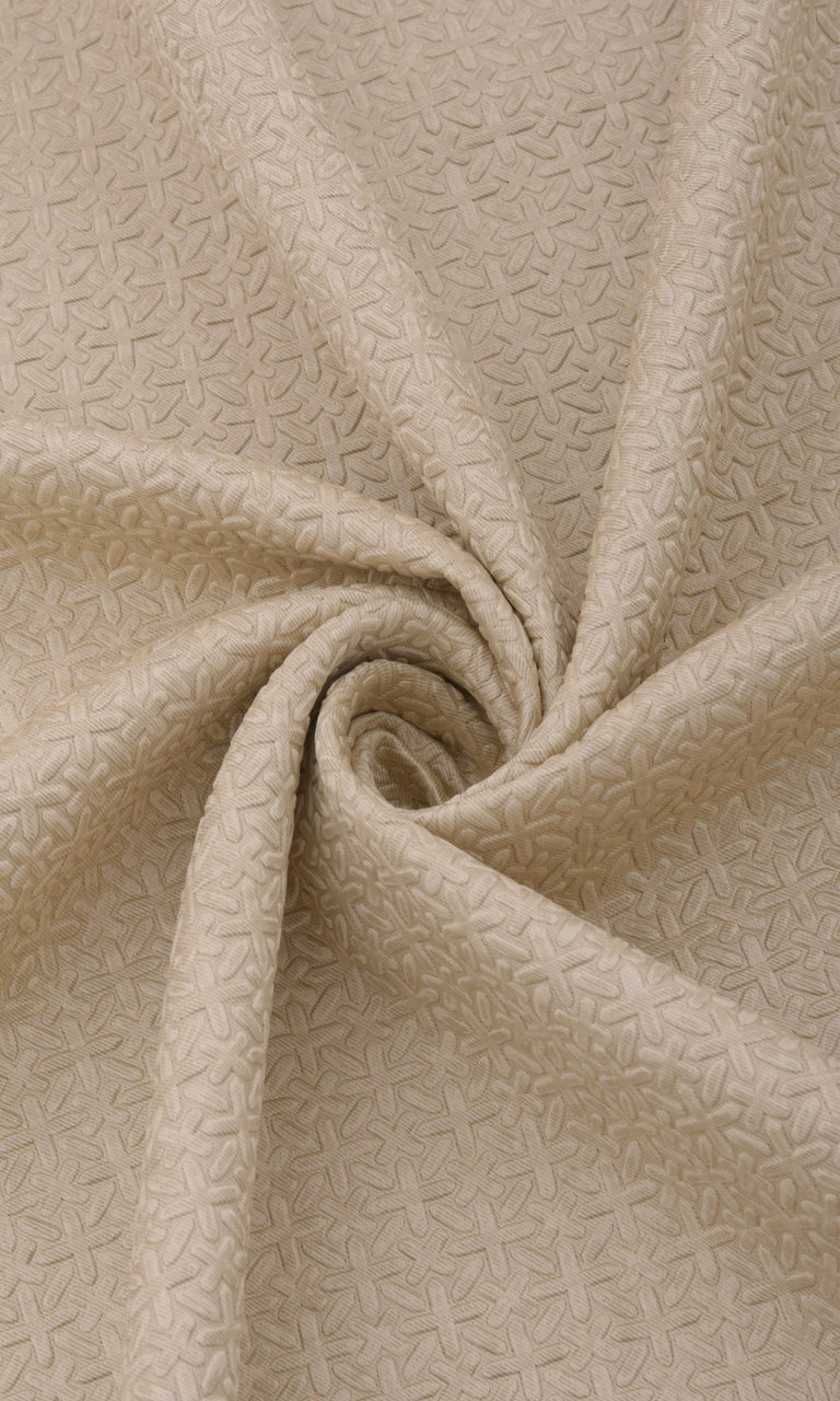 Textured Beige Blackout Curtains Image