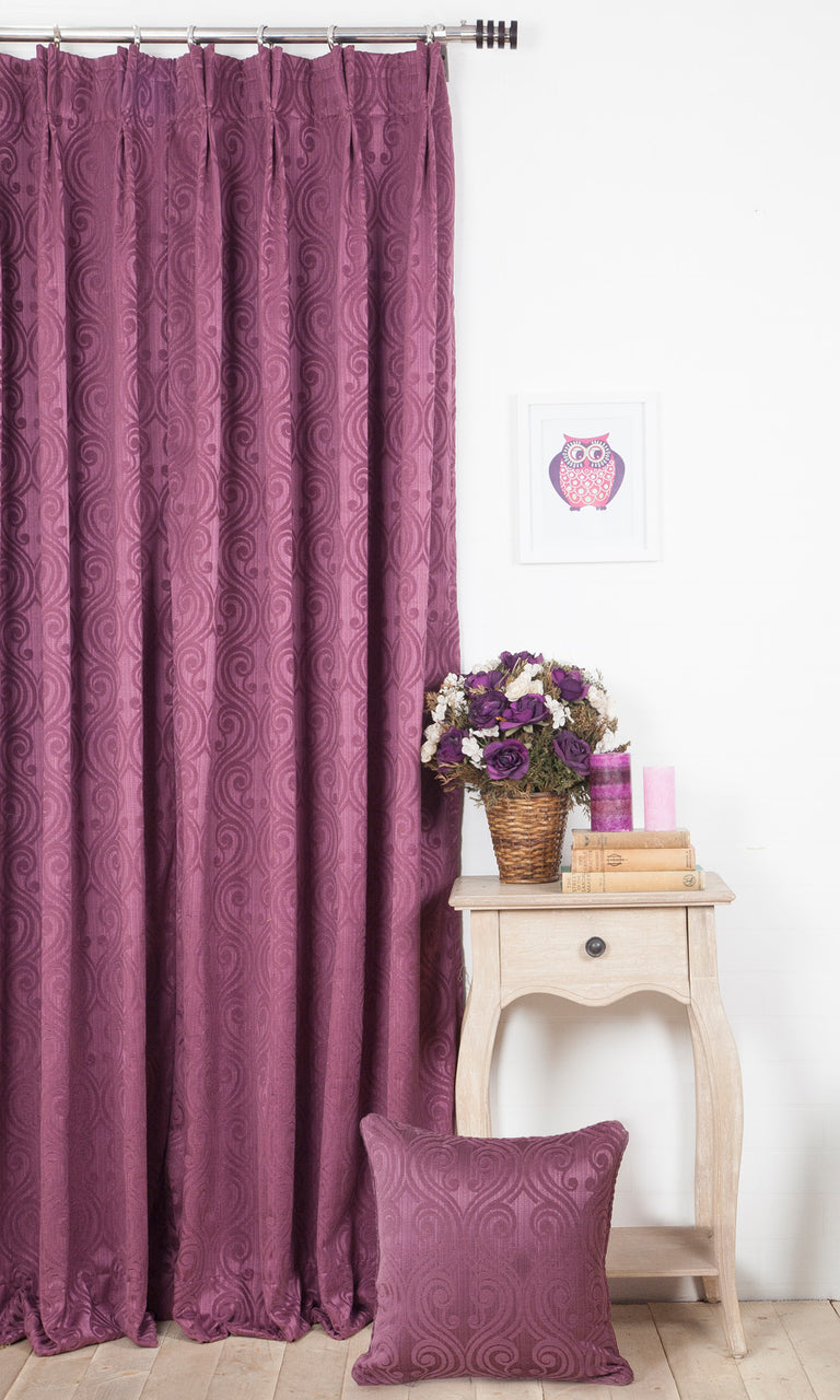 purple custom curtains image. Narrow Curtains.