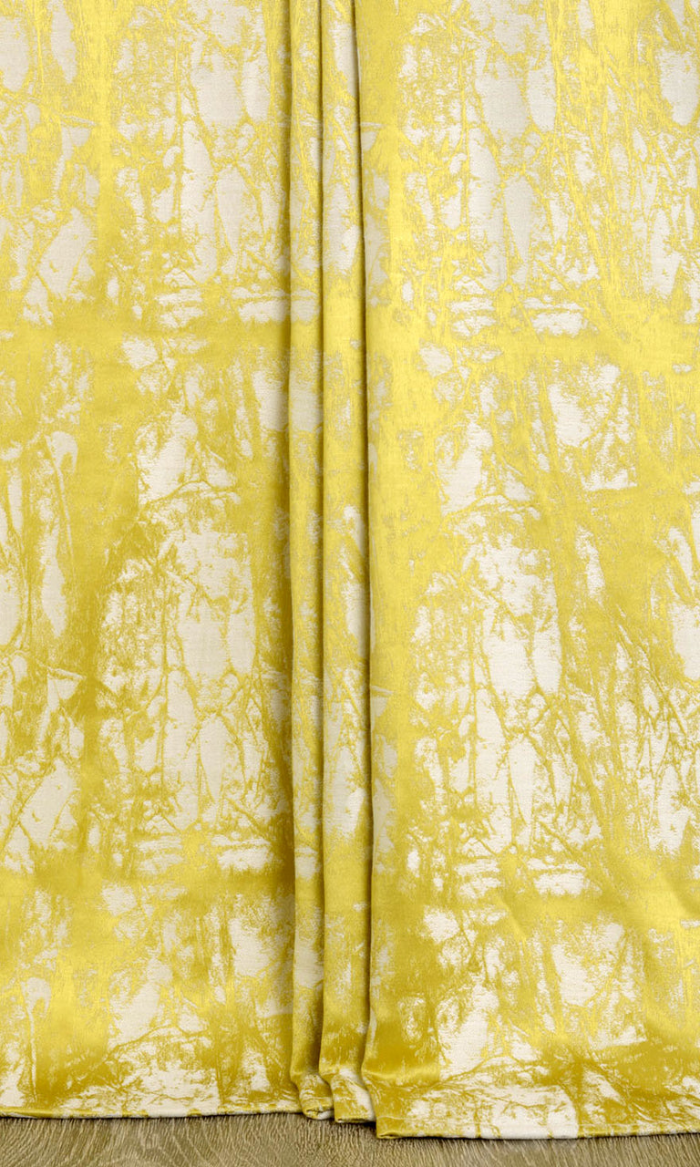 Printed custom curtains yellow. Narrow Curtains.