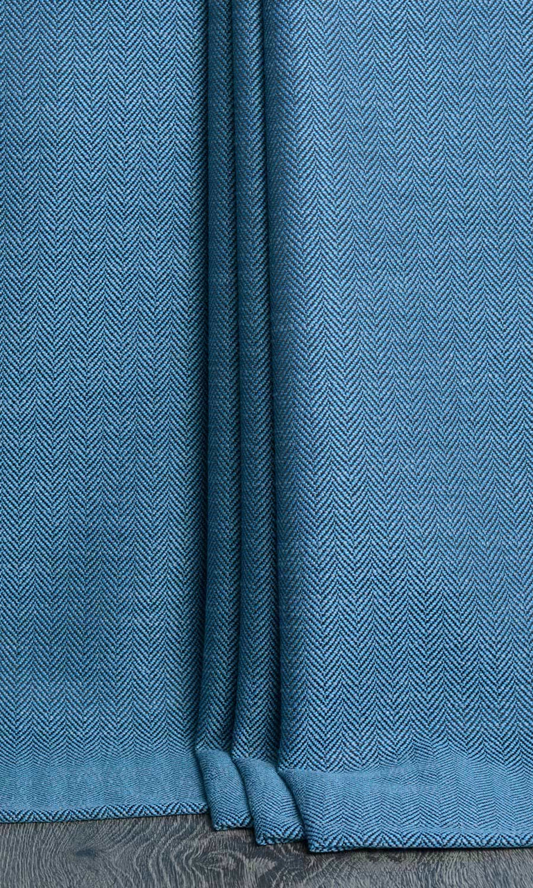 Blue Custom Curtains Panels