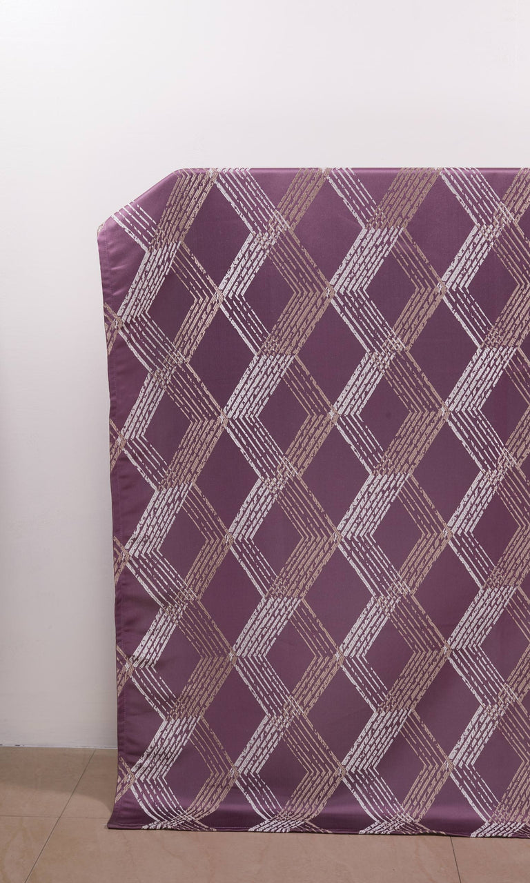 Mauve Purple Patterned custom Curtains. Narrow Curtains.