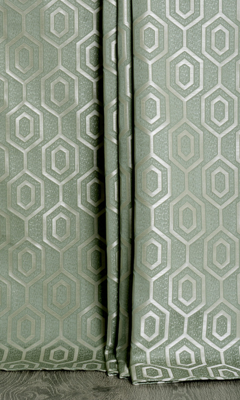 Jacquard Honeycomb Patterned Curtains. Narrow Curtains.
