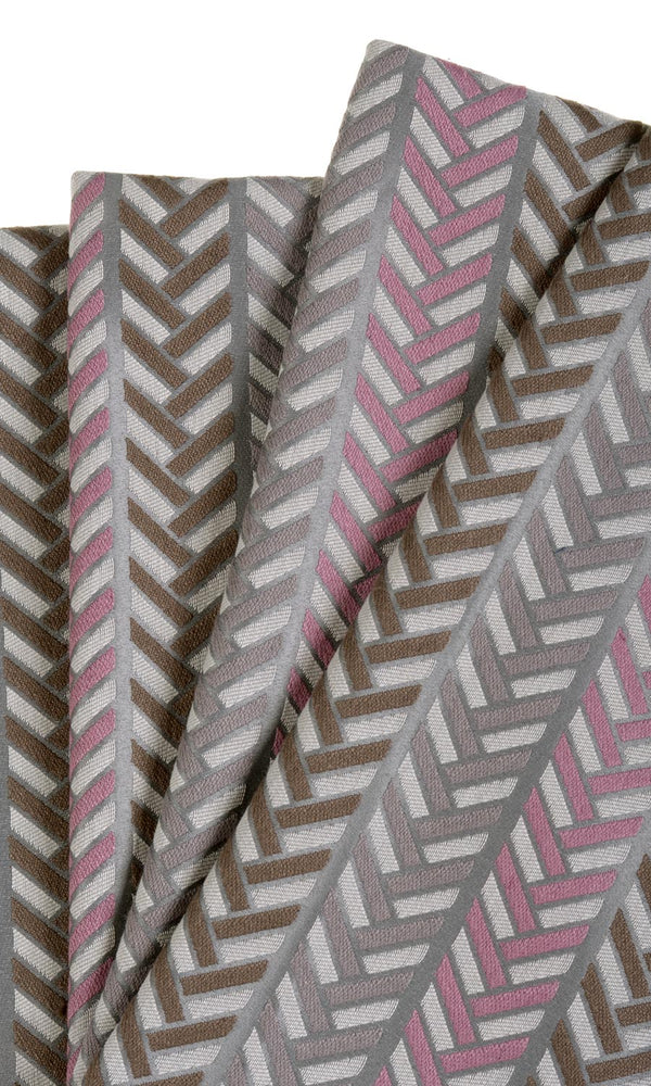 Vertical Herringbone Patterned Jacquard Curtains