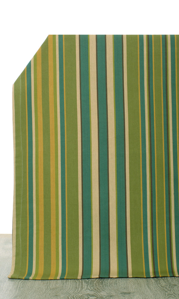 green or yellow custom cotton curtains image I Extra Long