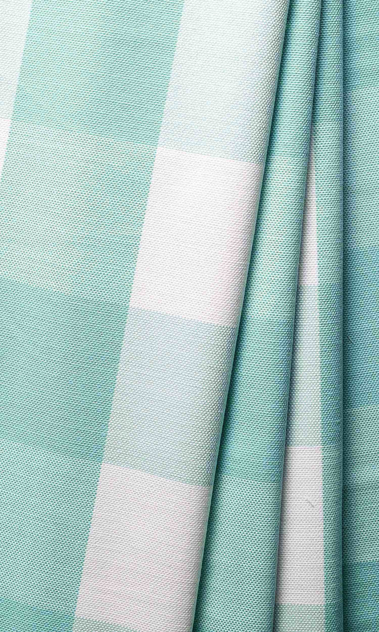 Baby Boy Blue Check custom Curtains. Narrow Curtains.