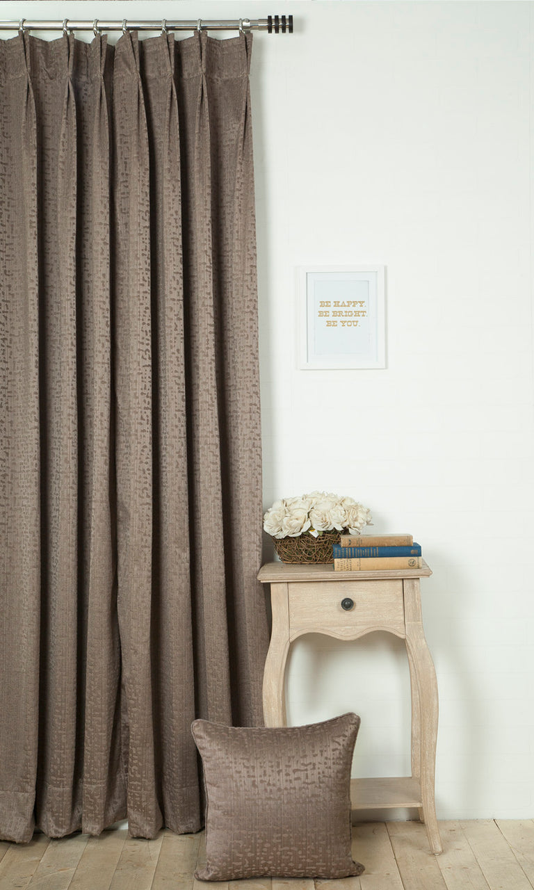 brown custom curtains image