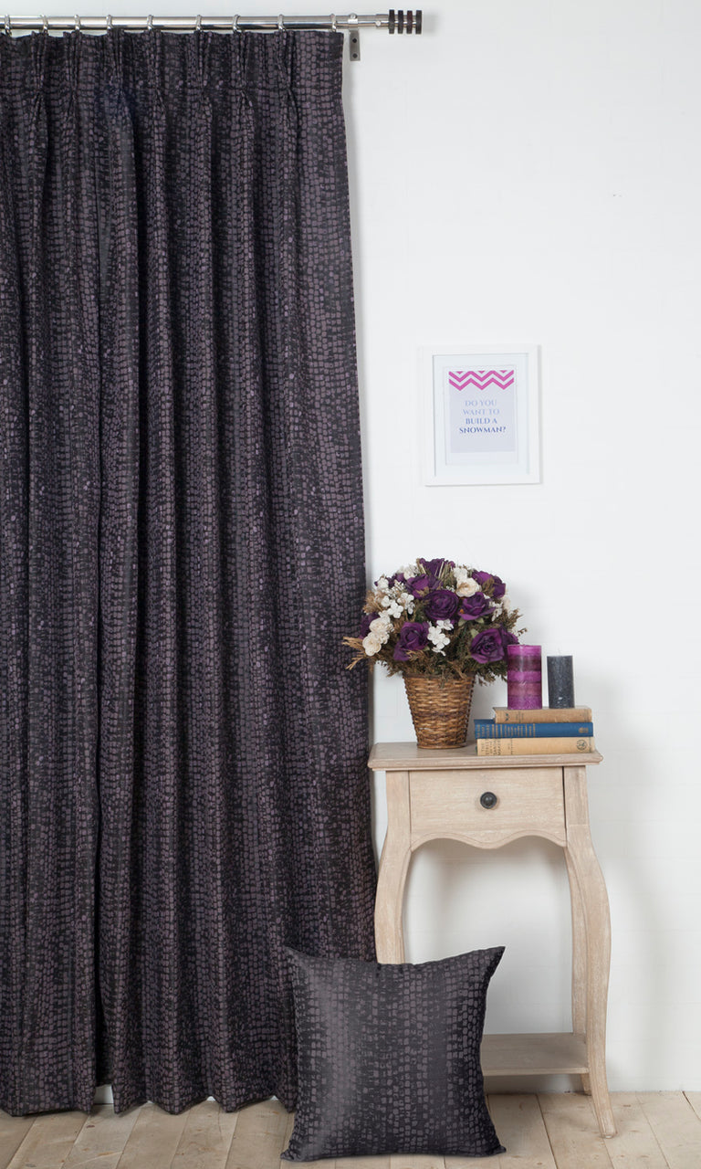 purple custom curtains image