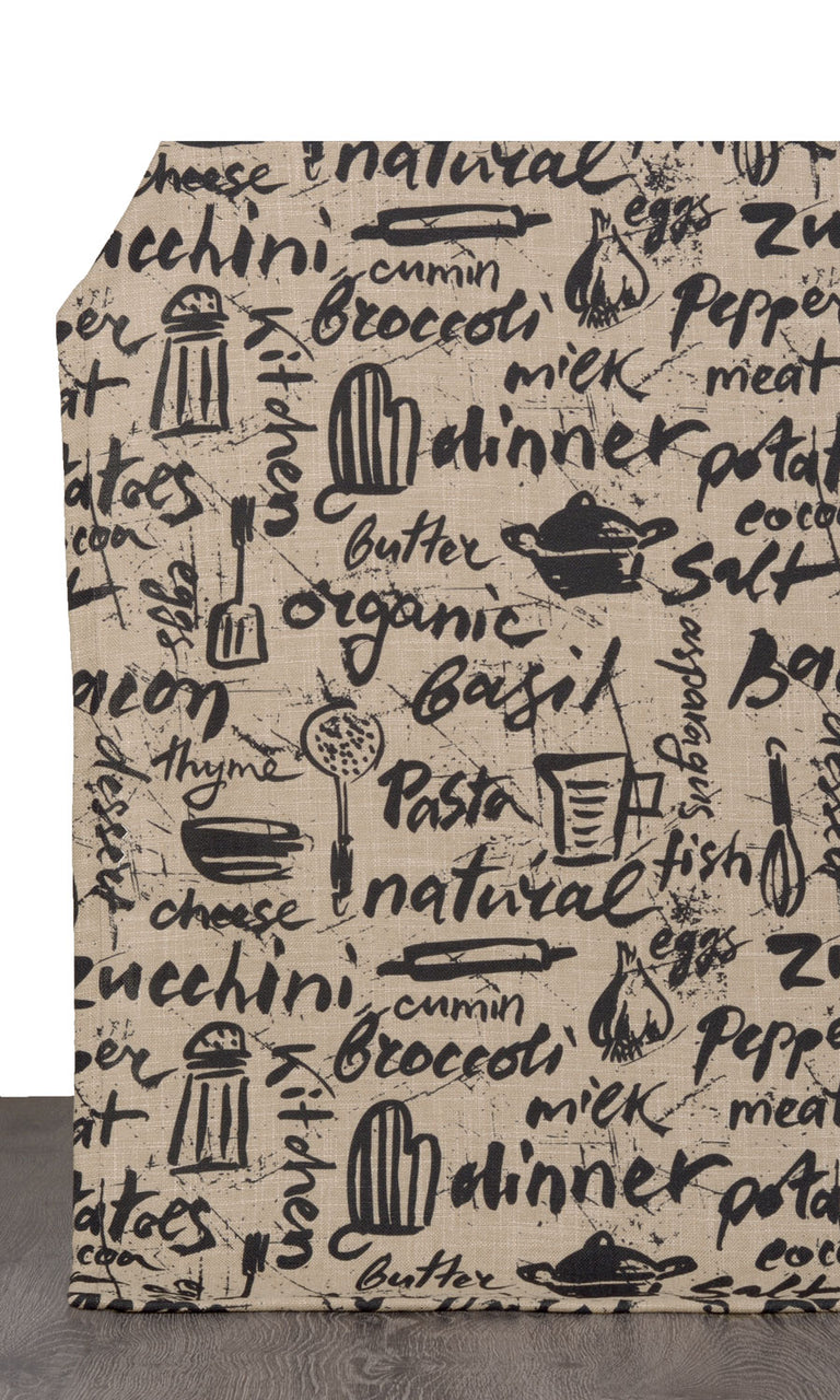 Cooking Theme Printed Kitchen Curtains