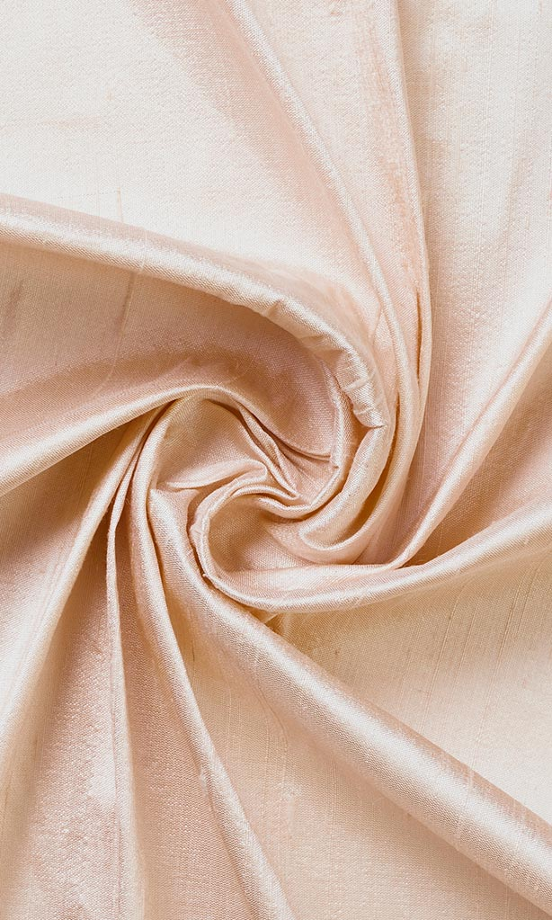 Blush Pink Pure Silk Curtains I Handstitched and Shipped for Free I Custom Window Drapes