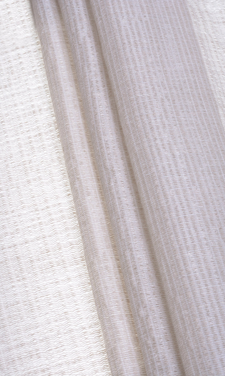 Oatmeal textured sheer curtains