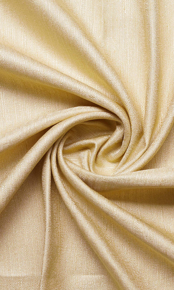 Champagne yellow custom silk blend curtains image