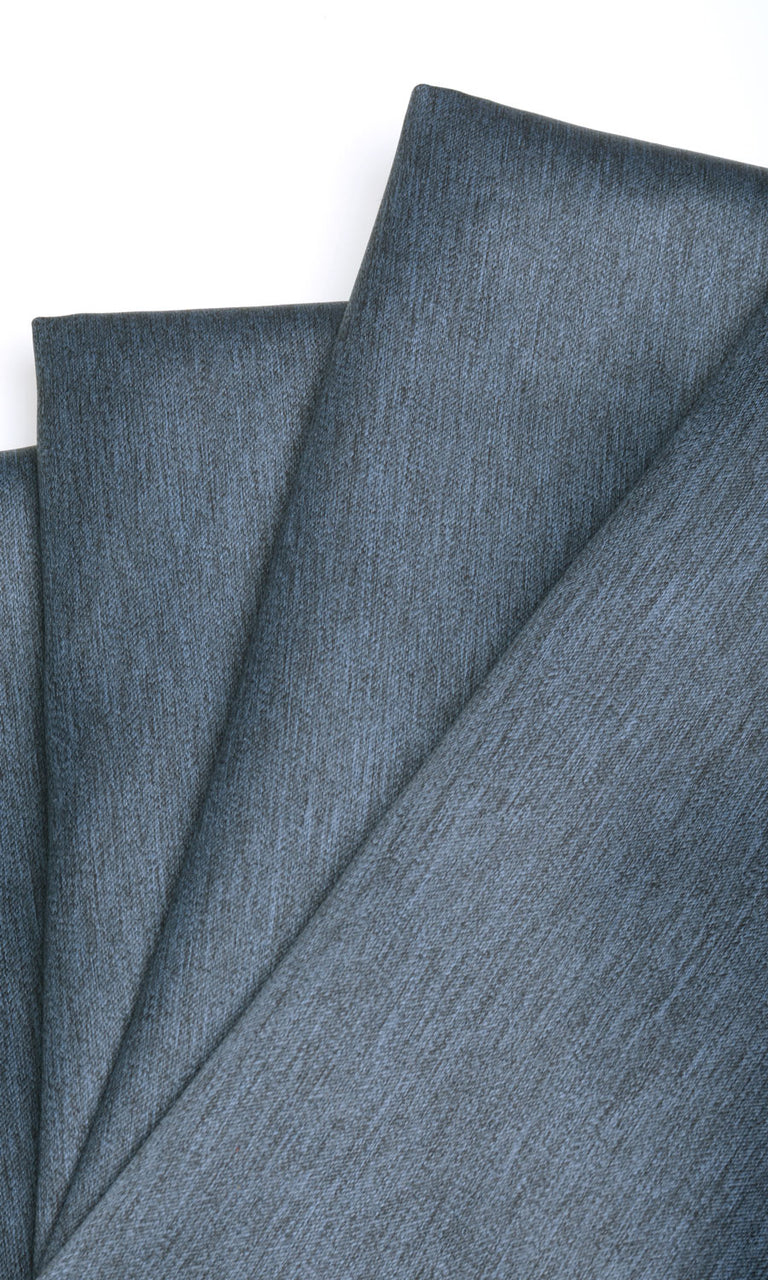 Textured Blue Black Out Bedroom Nursery Playroom Media Room Drapes Image