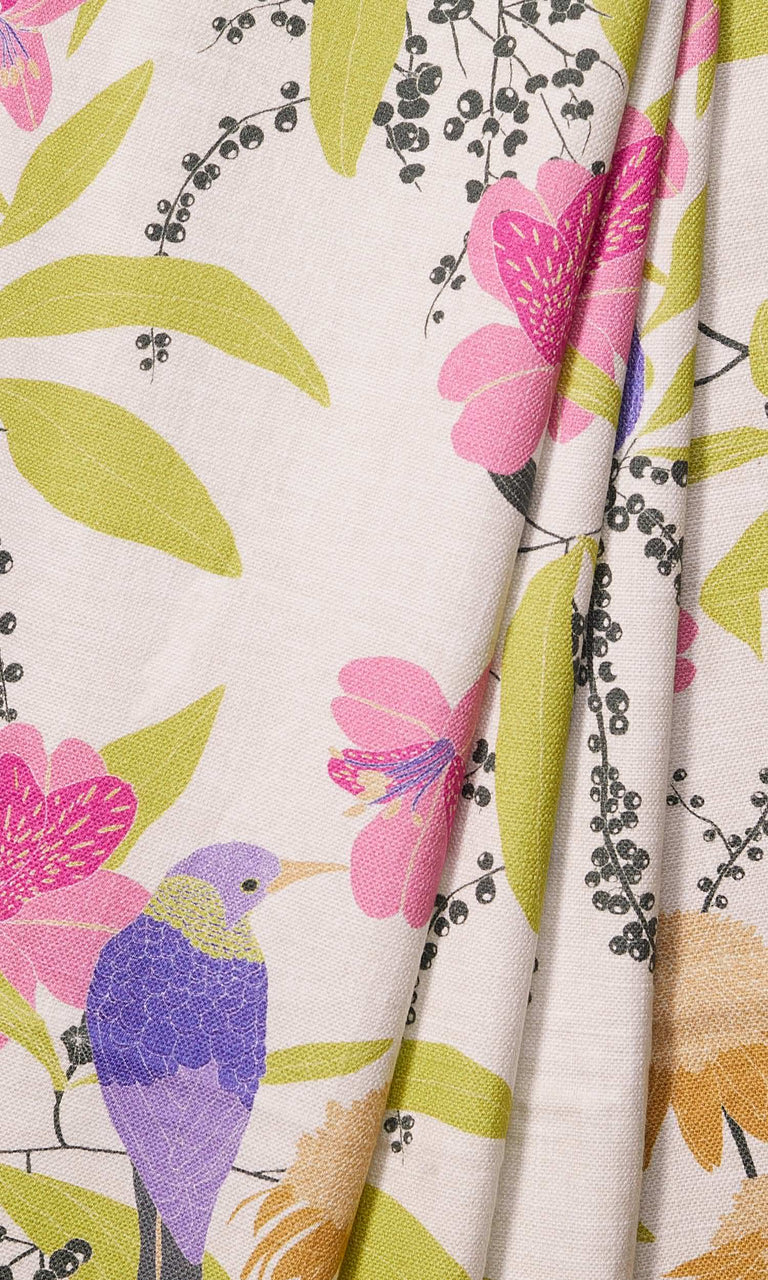 Purple/ Lavender/ Pink/Green/Charcoal Nature Print Bespoke custom Curtains. Narrow Curtains.