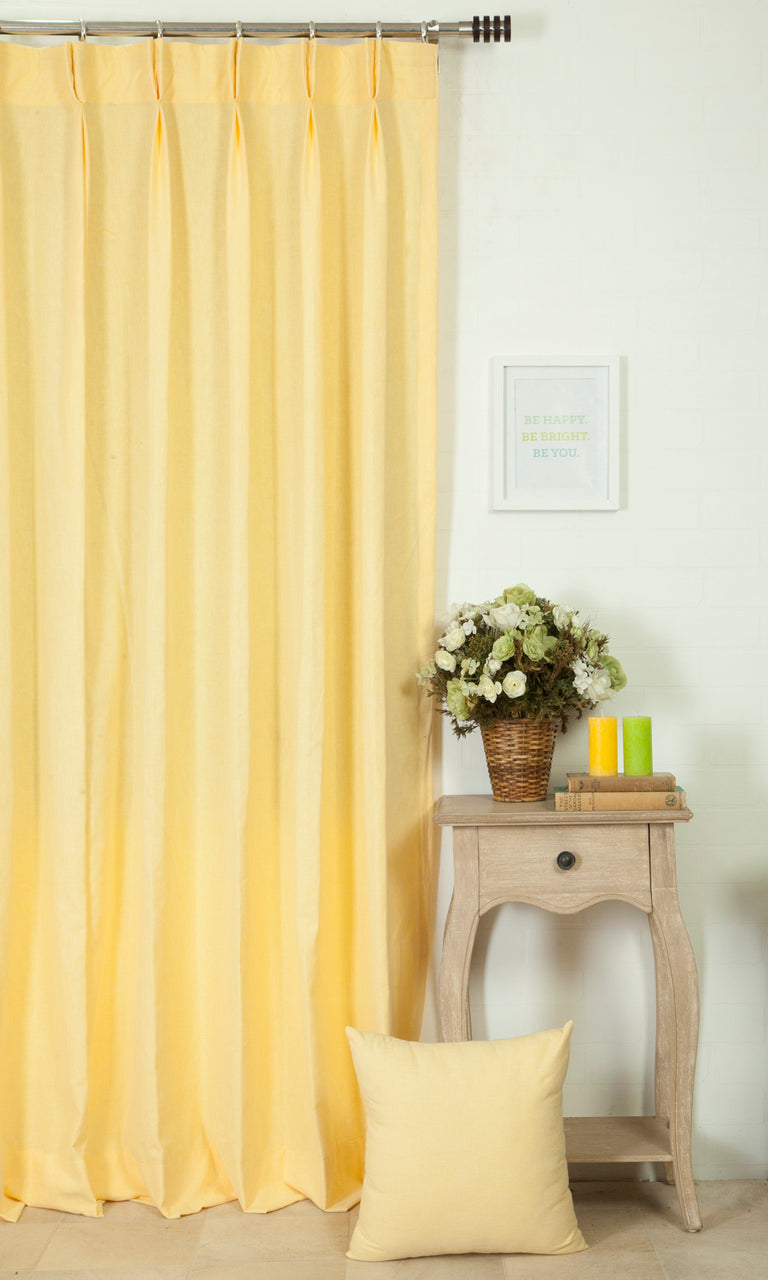 yellow custom curtains image. Narrow Curtains.