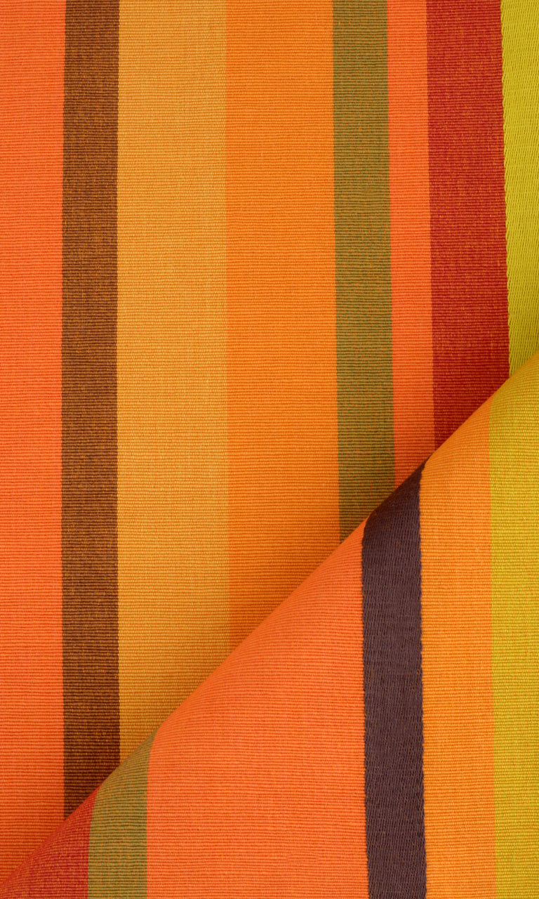 orange custom cotton curtains image