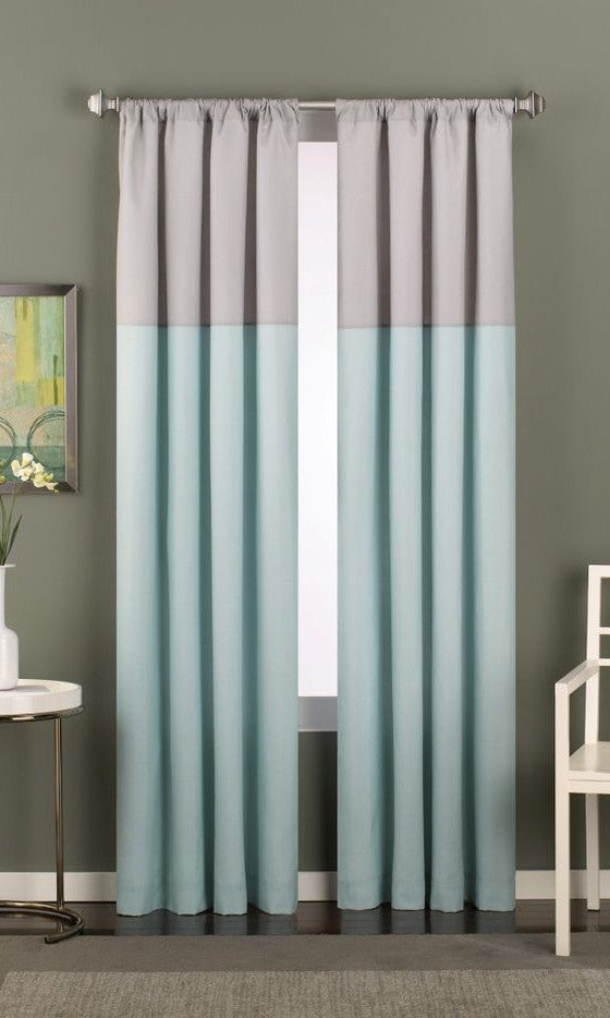 banded products color edge curtains banding fullxfull grey with white block drapes colorblock il blue pale trim